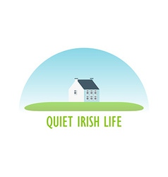 Traditional Irish House vector image