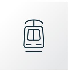 tramway icon line symbol premium quality isolated vector image