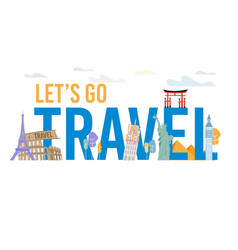 Vacation travel to foreign countries banner vector