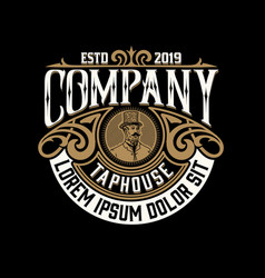 vintage logo layered vector image