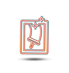 Window cleaning line icon washing service vector