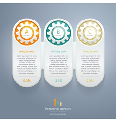 Color Gears Infographic Number Options vector image vector image