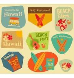 Hawaii Surf Stickers vector image vector image