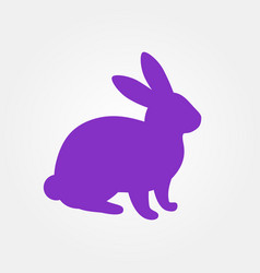 silhouette of hare vector image vector image