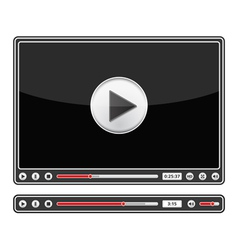 Audio and Video Players vector image vector image