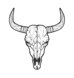 Bull skull native Americans tribal style Tattoo vector image vector image