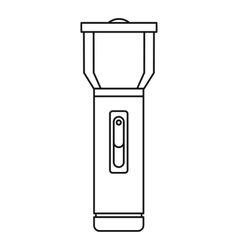 Flashlight icon outline style vector image vector image