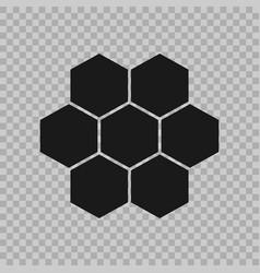 hexogen isometric logo concept honeycomb vector image