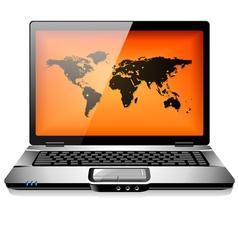 portable laptop notebook computer vector image vector image