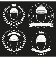 Set of Vintage Ice Hockey Club Badge and Label vector image vector image