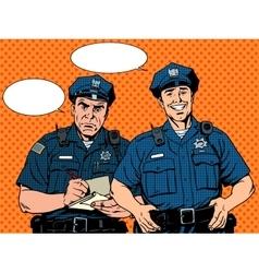 Bad good COP police vector image