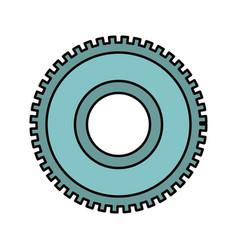 Color sketch silhouette cog wheel pinion icon vector