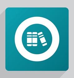 Flat books icon vector