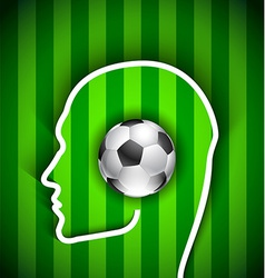 Human head with soccer ball vector image vector image