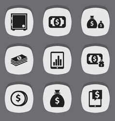 set of 9 editable investment icons includes vector image vector image