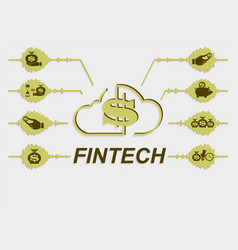 Sign symbol financial technology vector