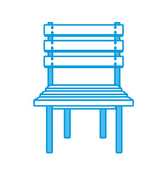 wooden chair isolated vector image vector image