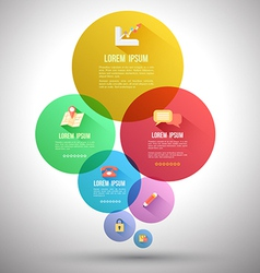 Circle group with flat icons vector image vector image