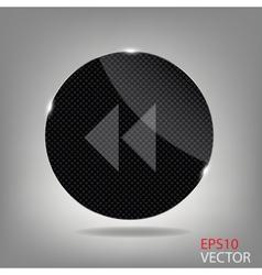 Glass button media icon vector image vector image