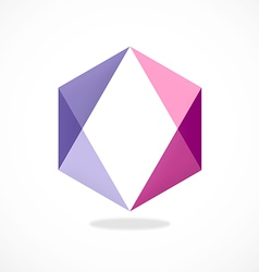 abstract polygon purple logo vector image