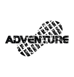 adventure template logo design template vector image