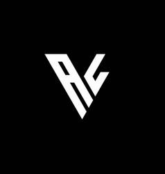 Al logo letter monogram with triangle shape vector