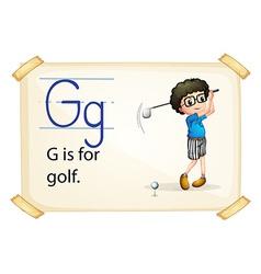 Alphabet g vector