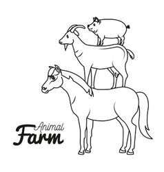 Animals farm domestic icon vector