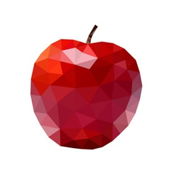 Apple low poly red vector