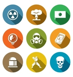 Atomic Energy of Japan Icons Set vector image