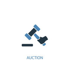 auction concept 2 colored icon simple blue vector image