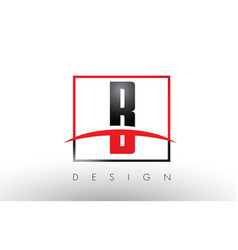 B logo letters with red and black colors and vector