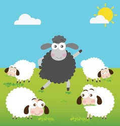 Black Sheep with make a difference vector