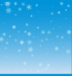 blue christmas snowflakes background white vector image