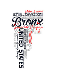 Bronx sport typography for t-shirt vector