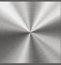 brushed metal radial texture vector image