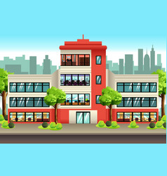 Business offices building vector