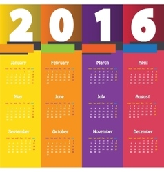 Calendar for the year vector image