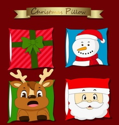 christmas pillow vector image