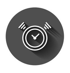 clock timer icon in flat style time alarm with vector image