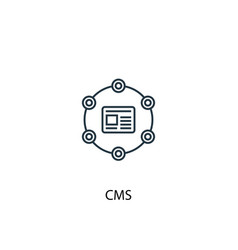 Cms concept line icon simple element vector