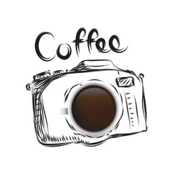 Coffee cameral business drawn icon symbol idea vector