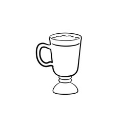 coffee latte hand drawn sketch icon vector image