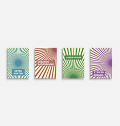 collection retro colorful templates vector image