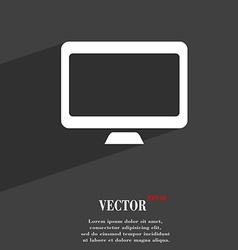 Computer widescreen monitor icon symbol Flat vector