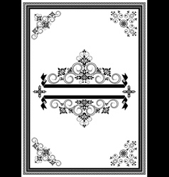 Corners ornaments and banners vector