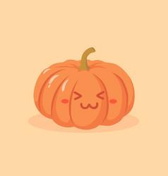 Cute pumpkin vegetable cartoon vector