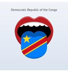 Democratic republic congo language vector