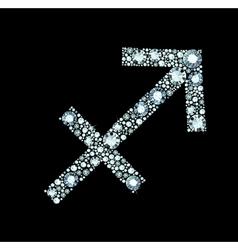 Diamond Sagittarius Symbol vector image
