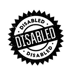 Disabled rubber stamp vector